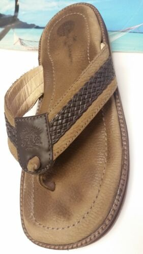 Tommy Bahama Men's Seawell Brown Leather Sandals E