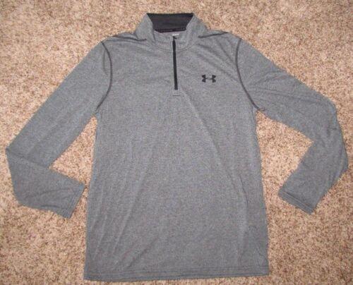 Under Armour Men/'s 1//4 Zip Threadborne Long Sleeve Shirt Heatgear Gray