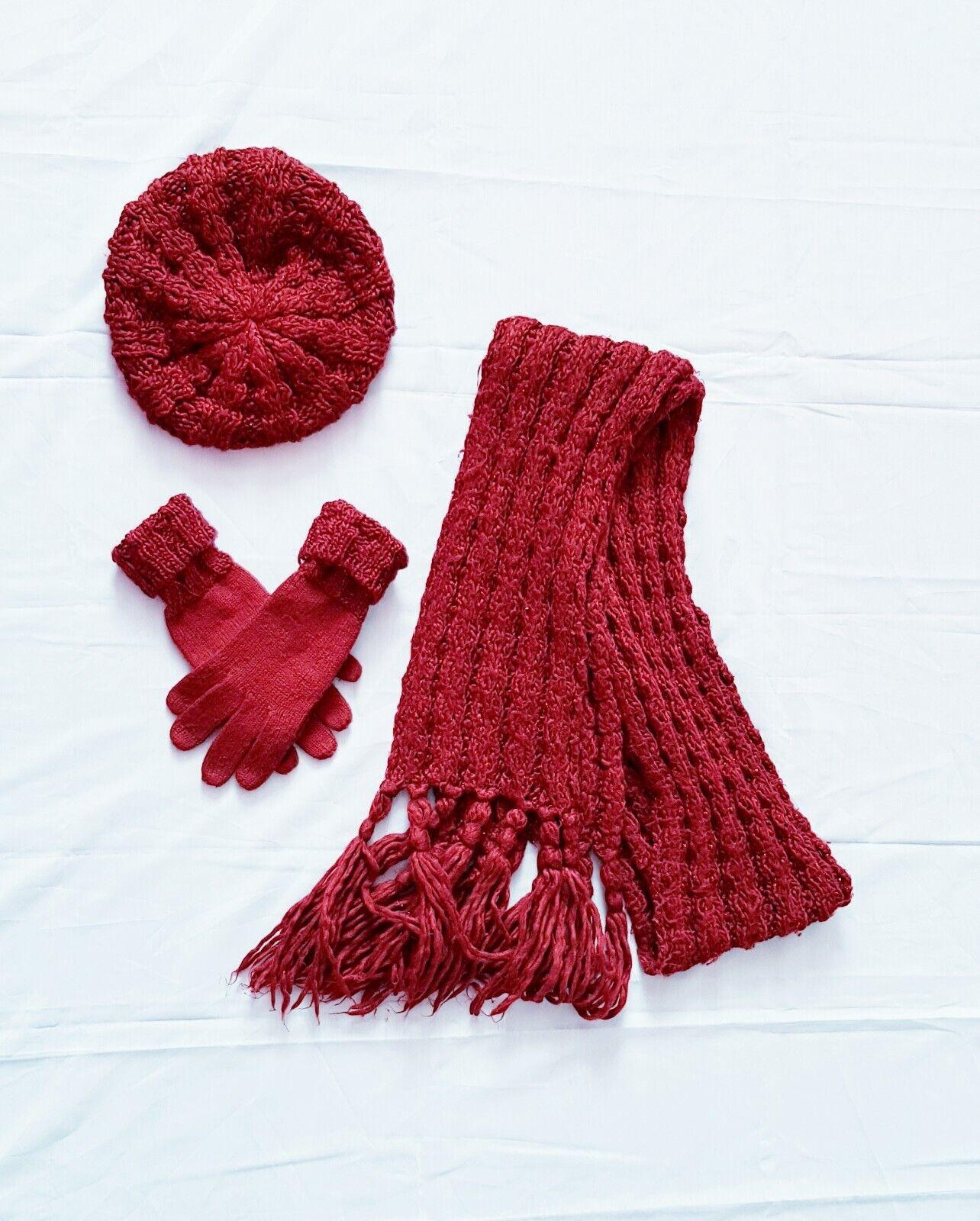 🧣 ensemble knit in heavy mesh-bordeaux-duograph 🧣