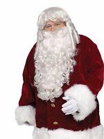 Professional Santa Wig & Beard Set By Fun World Christmas 7528 Costumania