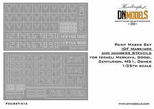 Mask set 1/35 IDF Markings and Numbers Israeli Merkava Doobi Centurion M51 Doher