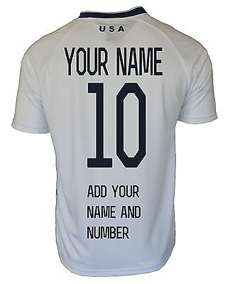 USA Flag Sport Training Soccer Jersey S-M-L-XL add NAME and NUMBER