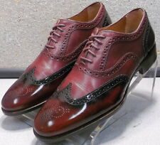 152454 PF50 Men's Shoes Size 8 M Antique Red Leather Wing Tips Johnston & Murphy