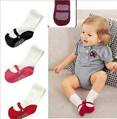 1Pair Baby Boys Girls Quanlity Anti Slip Socks Infant Boy Girl 0-24 Months