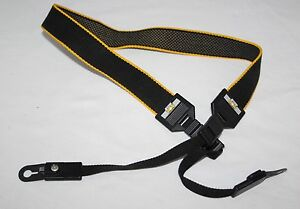 Shoulder Strap  in Yellow /& Black High Quality Retro Style DSLR Camera Neck