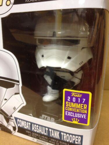 FUNKO POP Star Wars Combat Assault Tank Trooper #184 SDCC Exc Vinyl Figure NEW