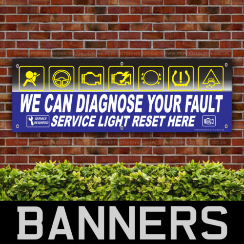 Diagnostic Fault Light Service PVC Banner Printing Garage Signs BANPN00242