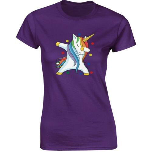Ladies Tee Spotty Unicorn Dab  Inspired Pudsey Bear Present Tshirt Funny Gift
