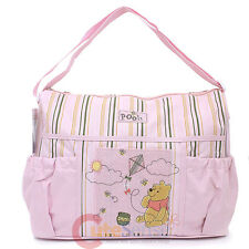 Disney Baby Winnie The Pooh Deluxe Pink Diaper Bag for Girls Diaper Pad
