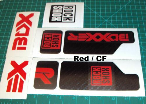 Rock Shox Boxxer Decals Set Stickers Graphics r2c2  2010 Downhill MTB biking