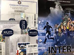 Bolaffi-Libro-Album-Folder-Cronisti-Sport-Magia-Nerazzurra-Storia-dell-039-Inter