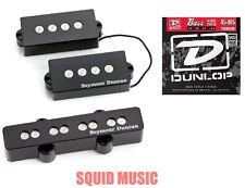 Seymour Duncan SPB-3 & SJB-3 PJ Precision P Jazz Bass (FREE DUNLOP BASS STRINGS)