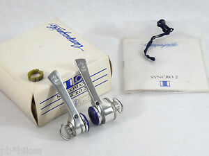 NOS NIB CAMPAGNOLO RECORD SYNCRO SHIFTERS 8 SPEED INDEXED VINTAGE 90s DOWNTUBE