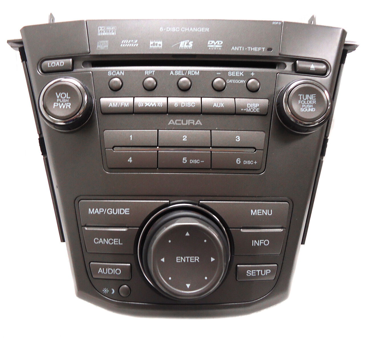 ACURA MDX Navigation GPS Radio 6 Disc CD Changer Player
