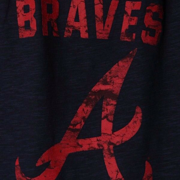 MLB Baseball T-Shirt ATLANTA BRAVES Hours and Hours Hours Hours von Majestic 9ce952