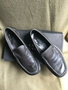 Barney-s-New-York-Men-s-Shoes-Size-9-5-Grey-Leather-Loafers