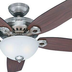 54 hunter fan brushed nickel ceiling fan with light kit and image is loading 54 034 hunter fan brushed nickel ceiling fan aloadofball Image collections