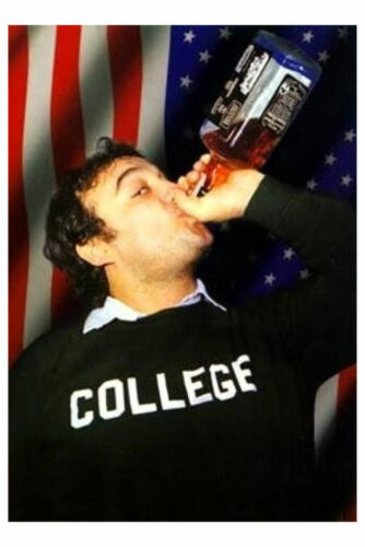 WHISKEY 24X36 POSTER FUNNY WALL ART COLLEGE ALCOHOL COMEDIAN SHOW! JOHN BELUSHI