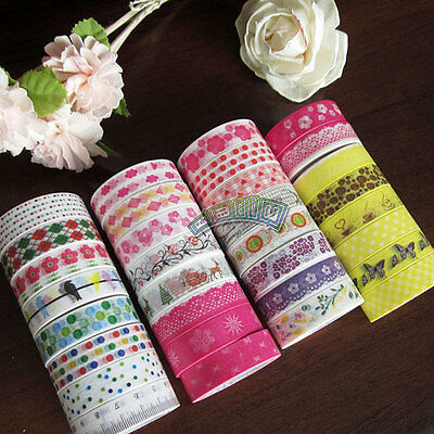 Japanese Washi Tape 10M Roll 15mm Decorative Sticky Paper Masking Tape Adhesive