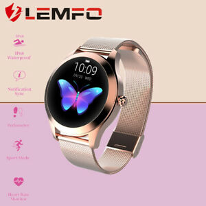 Lemfo-Blanco-KW10-Reloj-Inteligente-Mujeres-IP68-Impermeable-Bluetooth-Android