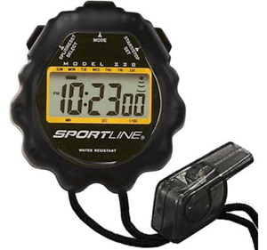 Sportline GIANT DISPLAY Stopwatch Water Resistant 228  With Free Fresh Batteries