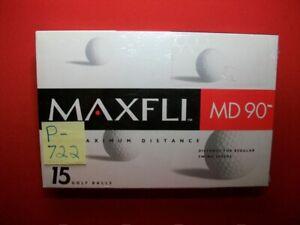 15 BRAND NEW SEALED MAXFLI MD90 MAXIMUM DISTANCE GOLF BALLS REGULAR SWING SPEEDS