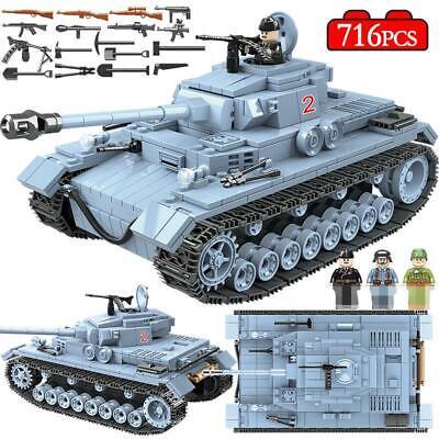 716 PCS Technic Military Tank Building Blocks Army WW2 War Educational German