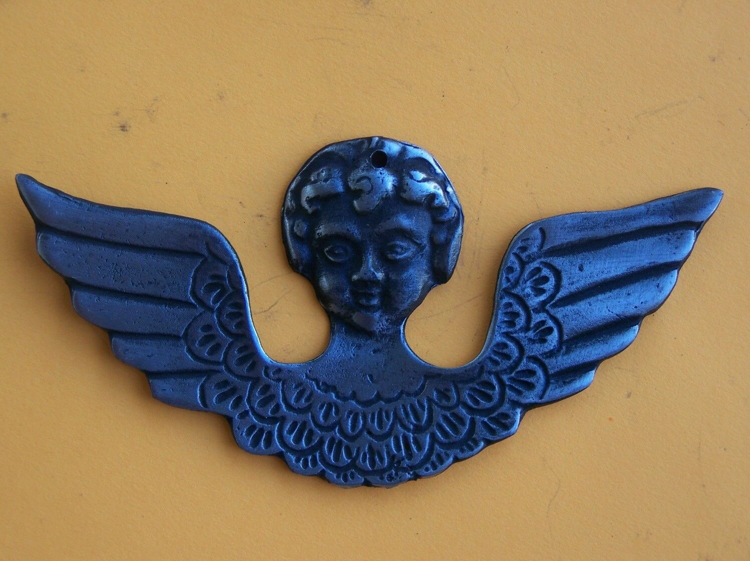 Tin/Silver Angel with Wings Fear of Flying Milagro Ex Voto 1