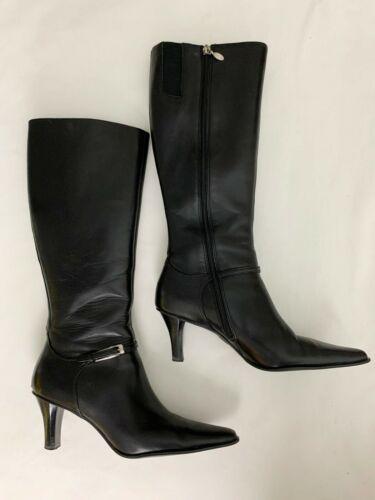 Circa Joan and David Black Tall Boots Size 7.5