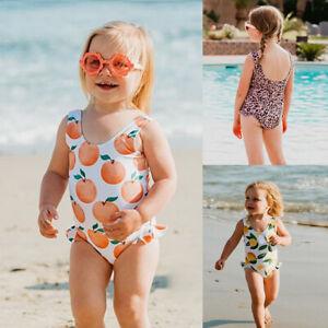Costume Ruffles Bathing Suit Girl Bikini Kid Swimsuit Baby Rainbow Swimwear