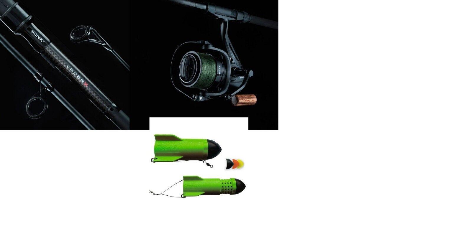 Sonik Vader X NEW 12ft  Spod Marker Rod + Spod Reel With Braid  + Prologic Spod