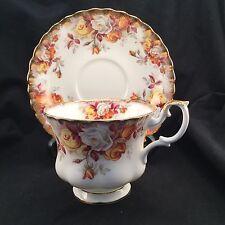 Royal Albert Lenora Montrose Style China Tea Cup & Saucer Teacup - GORGEOUS!