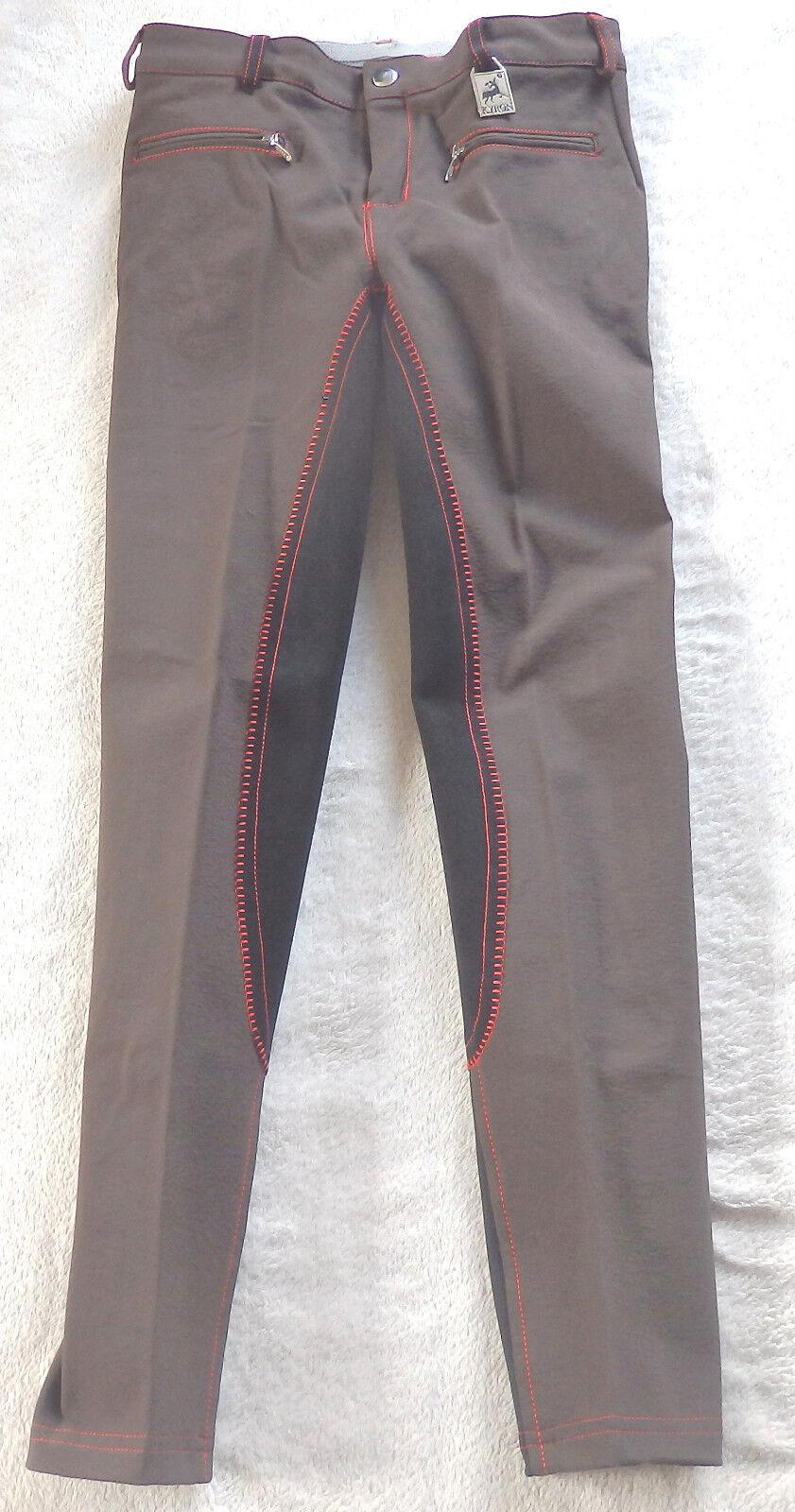 KYRON Bambini Pantaloni Montala, 3/4 guarnizione in pieno, Marrone, Taglia 158, Luxury, slim-line (86)