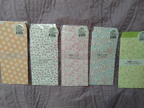 Floral decorative envelopes Various designs! Pack of 5 Brand new!
