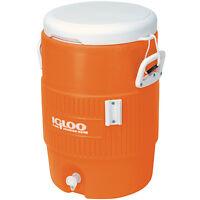 Igloo 5 Gallon Orange Cooler W/ Seat Lid