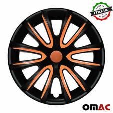 14 Inch Hubcaps Wheel Rim Cover Matt Black With Orange Insert 4pcs Set Fits Camry