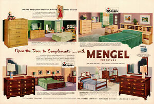 Details About 1950s Vintage Double Page Ad Mengel Bedroom Furniture Louisville Ky 021419