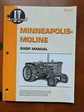 Minneapolis Moline Shop Manual Mm 201