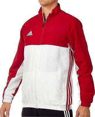 Adidas T16 Team Mens Running Jacket Red White Full Zip Sizes XXS 4XL   eBay