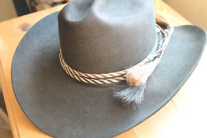New Western Horse Hair Flat Hatband Rodeo Cowboy Narrow Horsehair ... a48c02309a6f