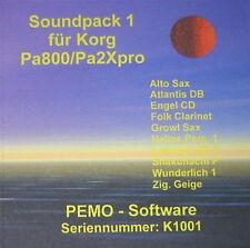 PEMO Software Soundpack 1 für Korg Pa800 oder Pa2Xpro