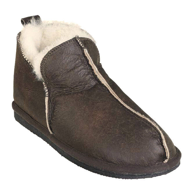 Shepherd Mens Sheepskin Bootee with Hard Sole - Anton - Oiled Antique