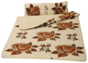 Quilt Double Size Merino Bedding Set Wool /& SATIN Combination Duvet 2 PILLOWS