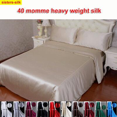 RüCksichtsvoll 40 Momme 100% Seide Nahtlos Bettbezug Kissenbezug Bettwäschegarnituren 135x200cm Bettwäschegarnituren
