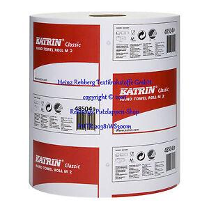 6-Papierrollen-weiss-20-5-cm-1lagig-790-Abr-300-m-KATRIN-Wischtuch-Handtuchrolle