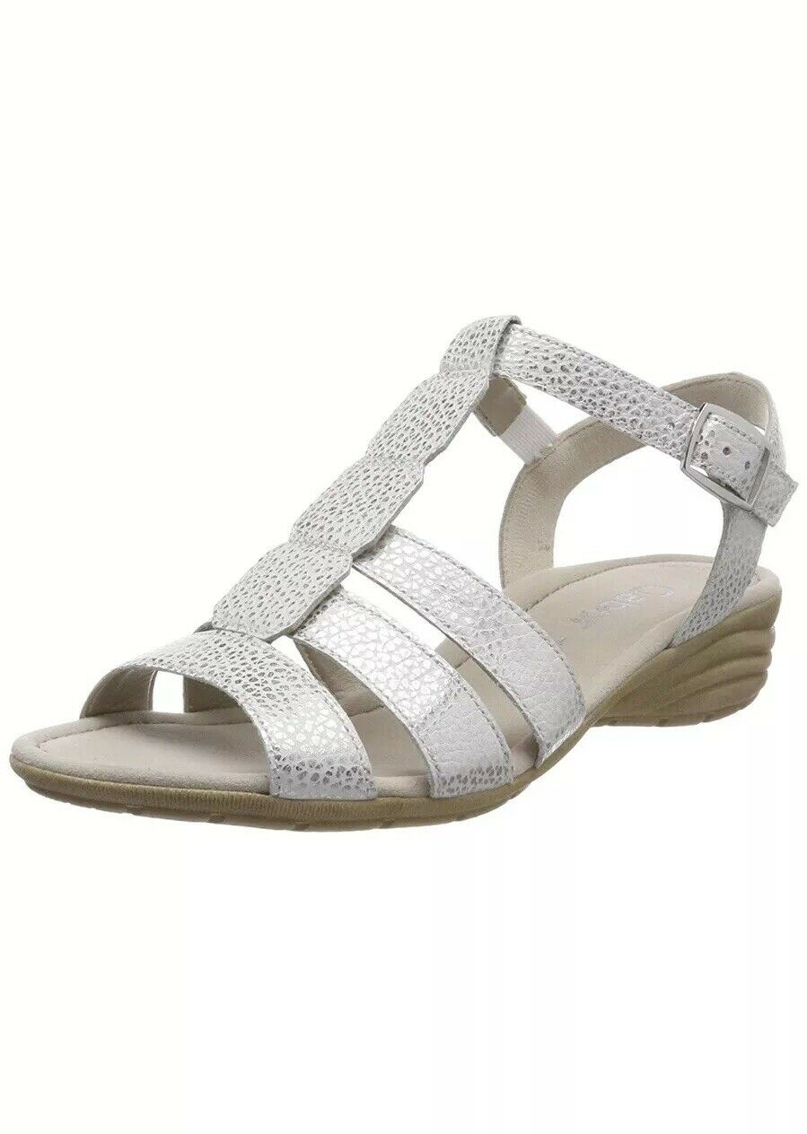 Gabor Women Casual Ankle Strap Sandals  UK 7.5 EU 41 White Ice (84.558.31)