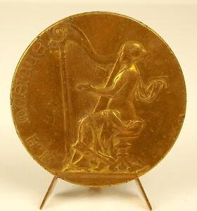 Medal-Harpist-Girl-Iconic-Poster-Harp-Becon-the-Heather-1898-Rivet-Harp-Medal