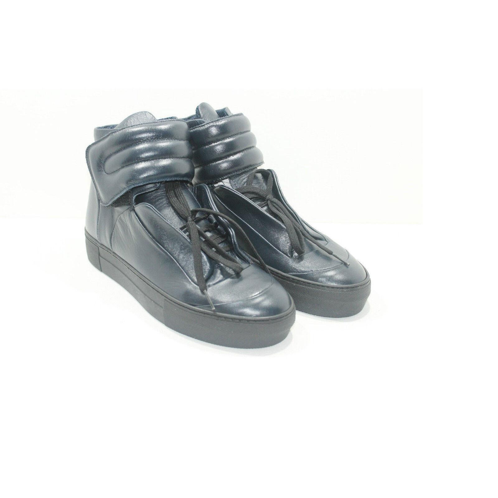 edizione limitata scarpe da ginnastica in pelle Blu scarpe artigianali artigianali artigianali da uomo calzature LEATHER Made in   prezzo ragionevole