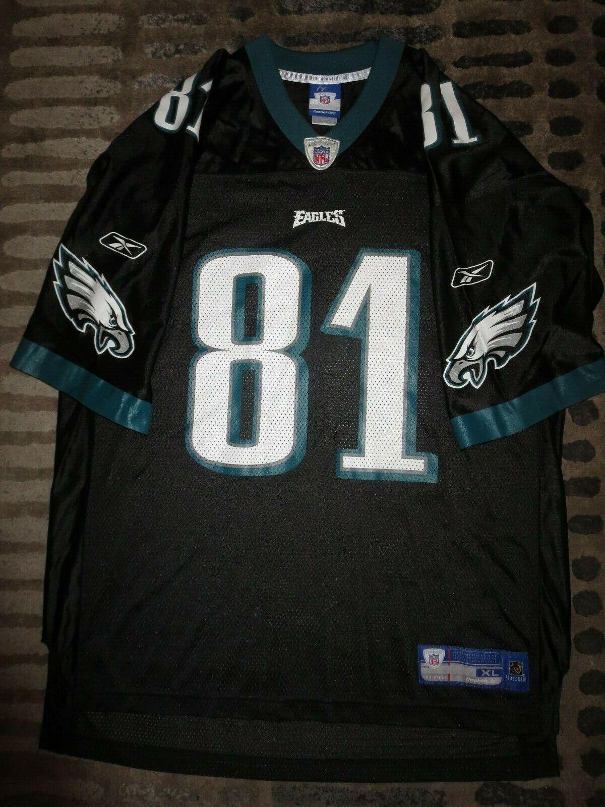 Terrell Owens Philadelphia Eagles Reebok Negro Edición NFL Camiseta XL