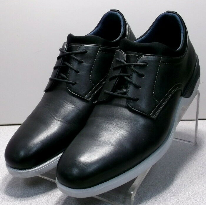 152771 PF50 Men's Shoes Size 12 M Black Leather Lace Up Johnston & Murphy